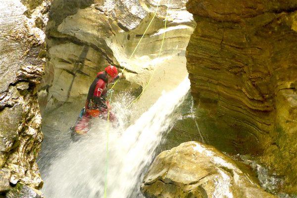 Canyoning Schraubenfall